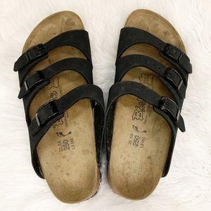 Birkenstock Three Strap Suede Birki's Sandals 8